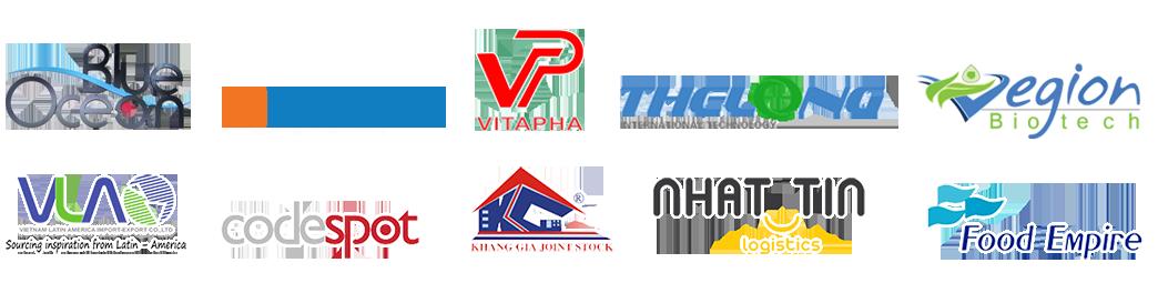 Logo các thương hiệu đã hợp tác với DHTax