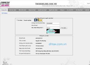 Cách tra cứu mã số thuế TNCN và thông tin doanh nghiệp bằng trang web tncnonline.com.vn 3