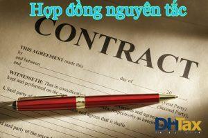 Tổng hợp các mẫu hợp đồng nguyên tắc 2