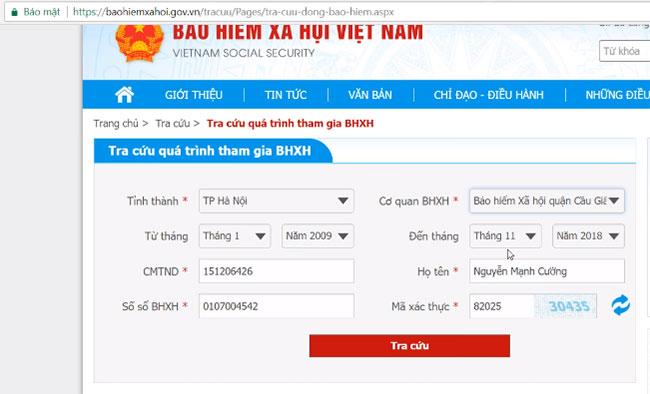 Hướng dẫn tra cứu thông tin đóng BHXH, BHYT trực tuyến