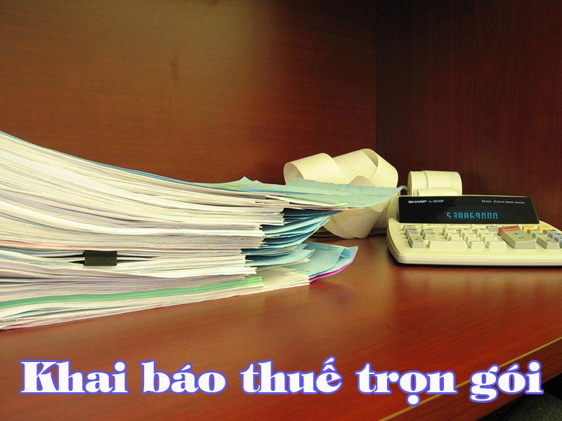 Nhận khai báo thuế cho doanh nghiệp