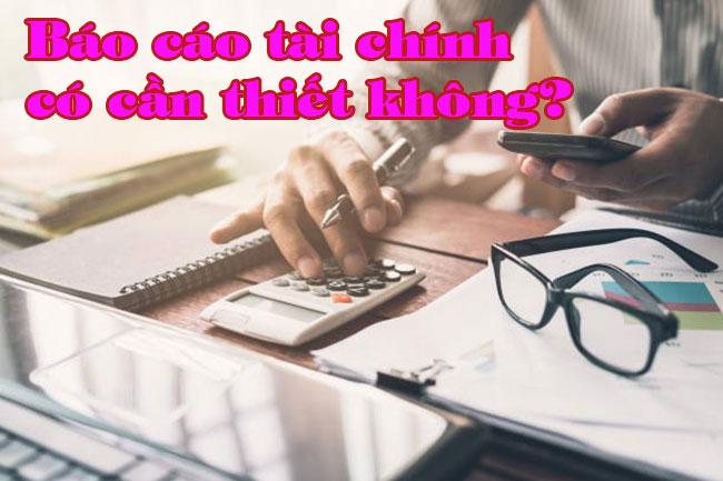 Tại sao nên sử dụng dịch vụ làm báo cáo tài chính