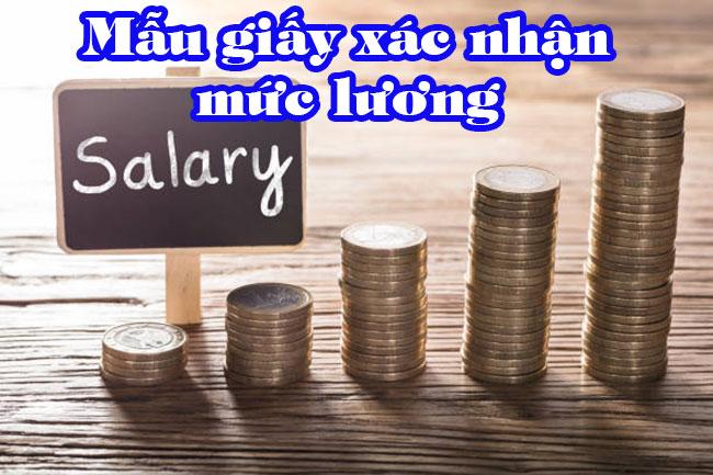 Mẫu Giấy xác nhận lương mới nhất 2019