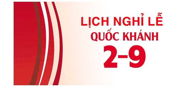 DHLaw thông báo lịch nghỉ lễ Quốc khánh 2-9-2020